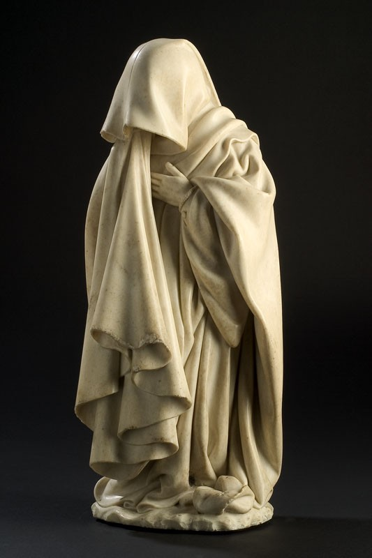 De la Huerta and le Moiturier Mourner with Drawn Hood in The Mourners at the Met